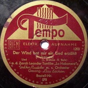 Label der Tempo Schallplatten GmbH