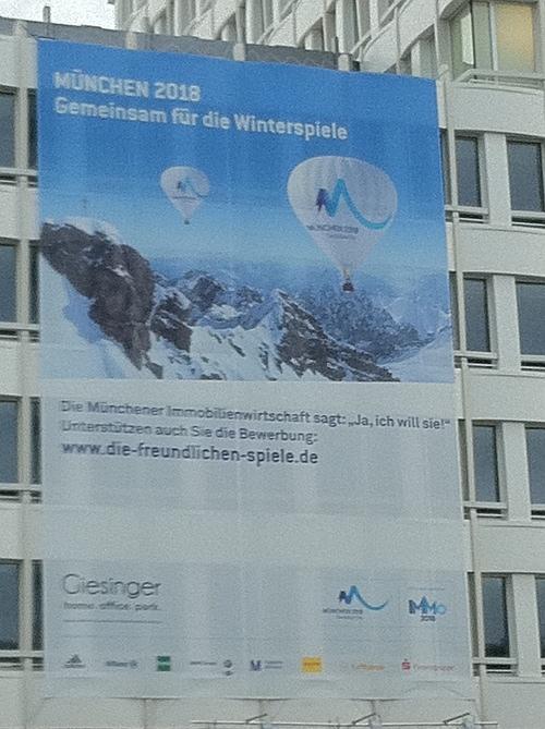 Olympiaplakat in München