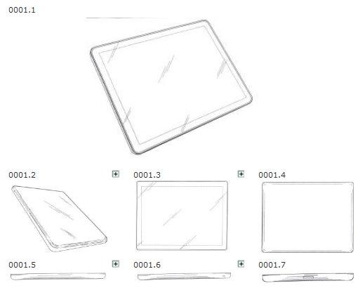 Apples iPad-Geschmacksmuster mit Priorität 17.03.2004; Quelle: HABM GGM 000181607-0001