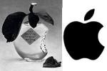 """links: 1973 Parfumflakon """"Je Reviens"""" von Worth; rechts: seit 1976 Firmenlogo der Apple Inc."""