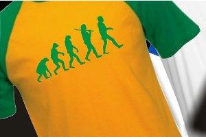 Evolution-Motiv auf einem T-Shirt