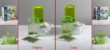 Original: Genius GmbH, Limburg Fälschung: Ninghai Xidian Jianfeng Plastics Mould Factory, Zhejiang, VR China