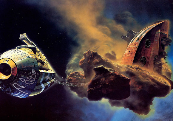 """Stars like Dust""-Cover von Chris Foss"