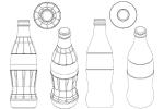 3D-Marke Coca Cola - Flasche